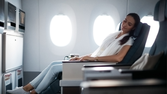 Premium Economy Class der Cathay Pacific Airways