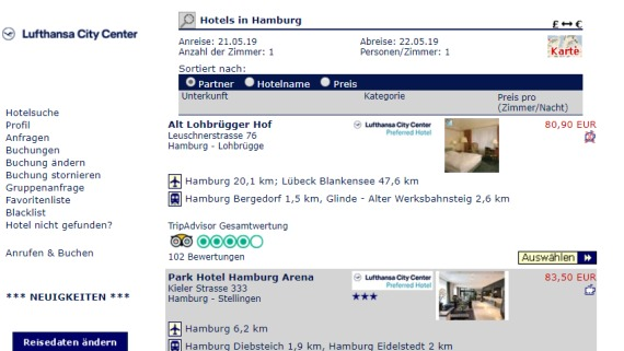 LCC Hotels Booking Engine